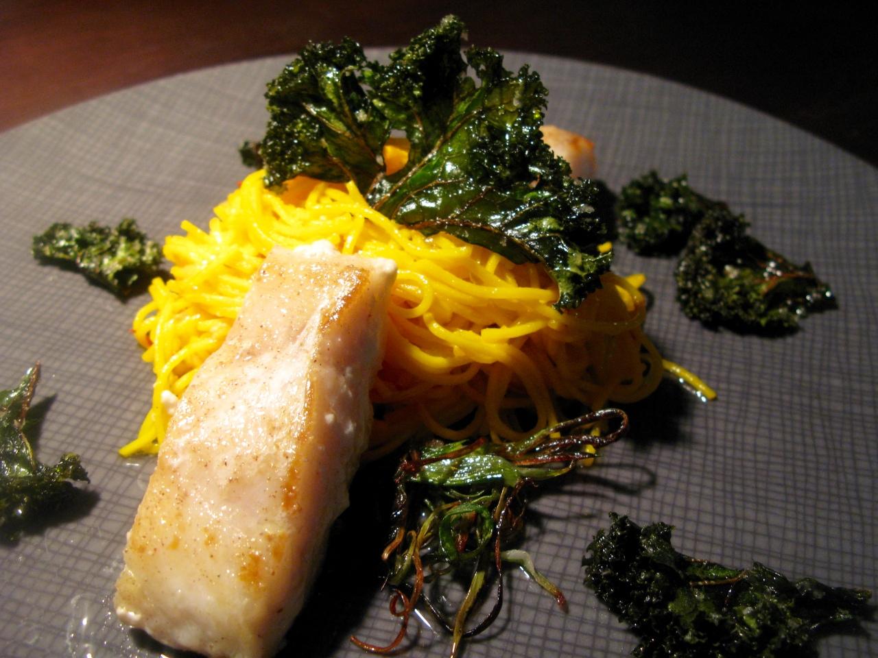 Kingklip | Zitronenpasta |Kale-Chips
