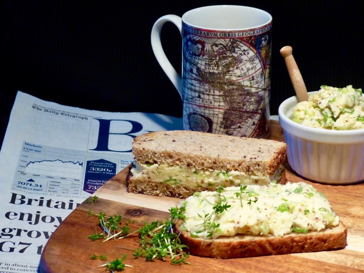 Käse-Lauchzwiebel-Sandwich | VeryBritish