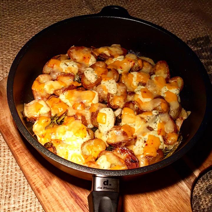 Überbackene Bratkartoffeln