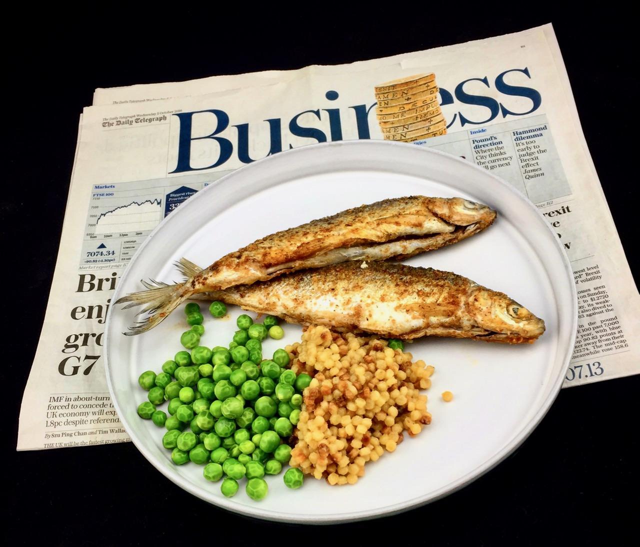 Fish'n' Peas – Gebratene KleineMaränen